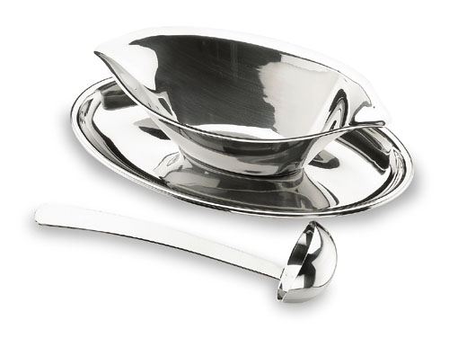 GRAVY BOAT LUXE  WITH SPOON